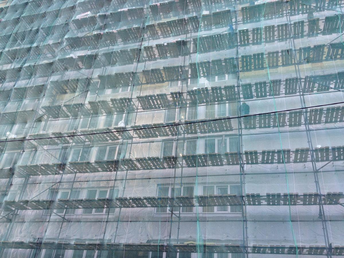 Azimut hotel Vladivostok staat vol bouwsteigers