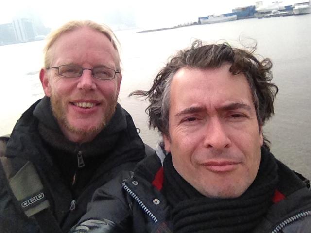 Albert en Mark bij de Gouden Hoorn Baai